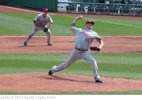 'Matt Latos P #55 Cincinnati Reds' photo (c) 2013, Sports Crazy - license: http://creativecommons.org/licenses/by-sa/2.0/