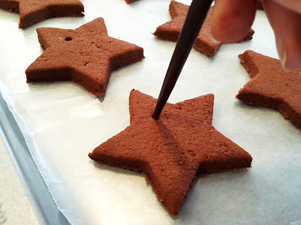 Cinnamon Ornaments In The Making