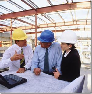 ingenieros reunidos en funciones