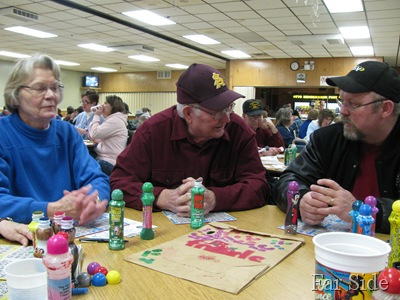 Anna Dad and Jody at Bingo