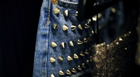 studded shorts & sequins