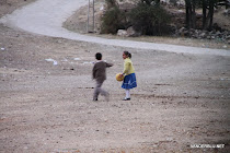 Children playing football at Hattusas/ Bogazkale, Turkey