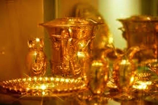 Foto de la colección imperial de la vajilla de plata.