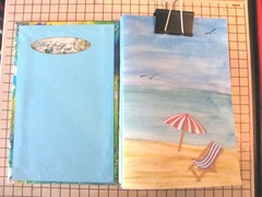 Art book April sea themed inside front cover and watercolored first signature 3. 2013