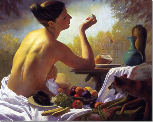 Woman-holding-an-Egg-Ron-Monsma-ENKAUSTIKOS