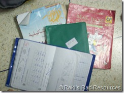 text books and notebooks- moroccan student