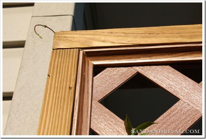 lattice frame close-up