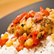 Salmon with Pineapple Tomato Salsa