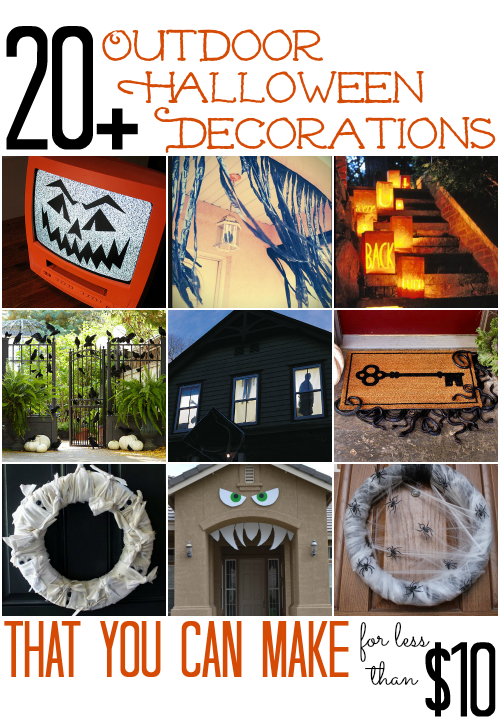 All cheap crafts 20 outdoor halloween decorations Halloween decoration diy cheap