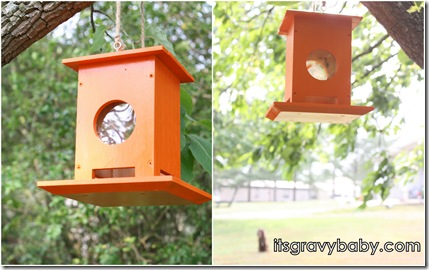 Red Toolbox Bird Feeder