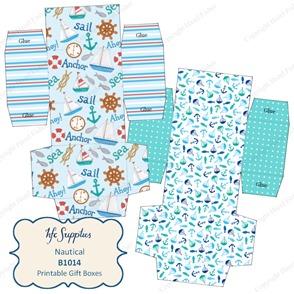 B1014 etsy 1 Nautical printable gift boxes
