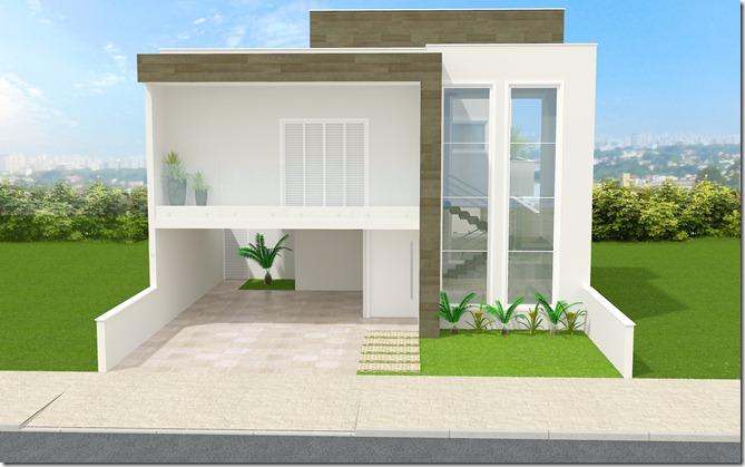 Projeto residencial  Sorocaba - fachada frontal 2