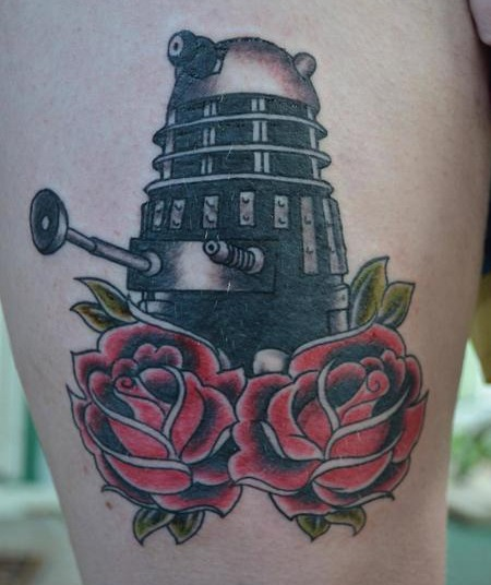 Dalek Tattoo via fyeahtattoos