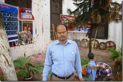 Shamim at the place of twin blast in Peshawar church