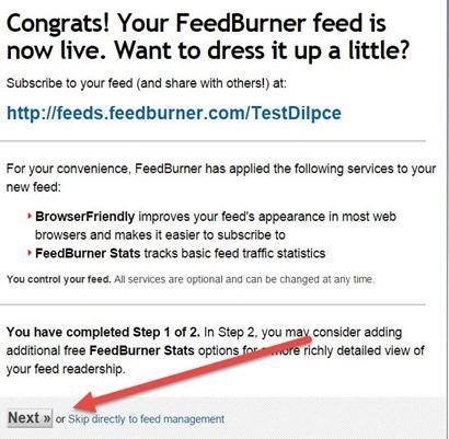configurazione-feedburner