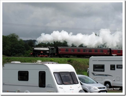 The East Lancs Railway running right past our door at Burr's Country Park.
