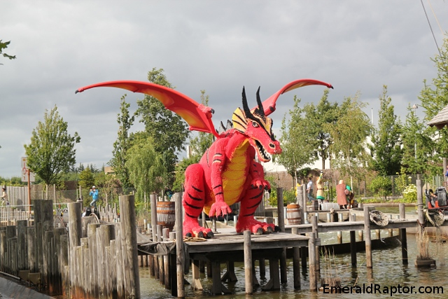 Giant lego dragon