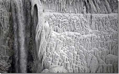 cascada niagara a inghetat-imagini spectaculoase
