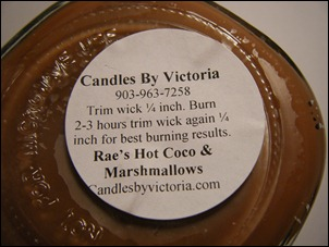 Candles By Victoria–Rae's Hot Coco & Marshmallows