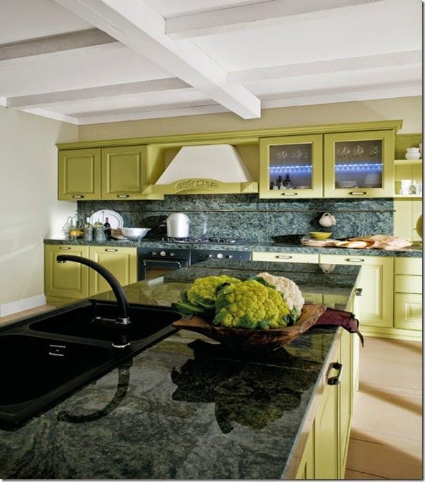 arredamento - cucine classiche - campagna - tinte pastello - Canova-malva-1