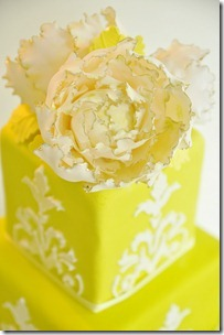 detail green cake peony