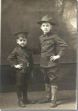 Roly and Carl circa 1918