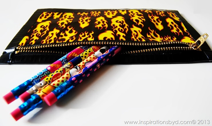 Duct Tape Zipper Pencil Pouch