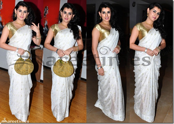 Archana_White_Saree