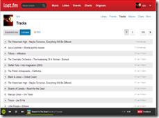Klikkaa suuremmaksi, Spotify painikkeet Last.fm sivulla