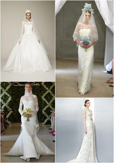 vestido de novia con mangas largas