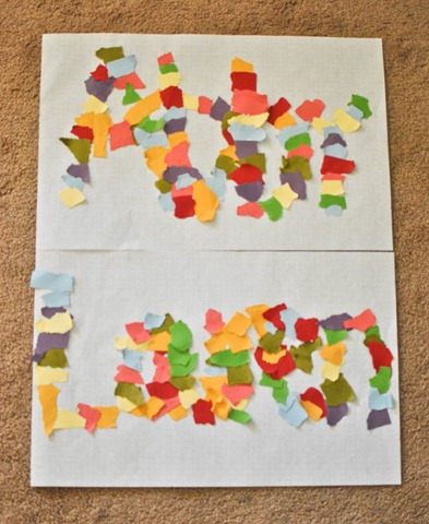 ripped paper easy toddler art
