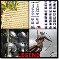LEGEND- 4 Pics 1 Word Answers 3 Letters