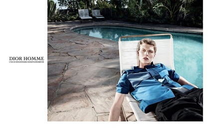 Tim Schuhmacher @ Nest/Supa by Willy Vanderperre for Dior Homme S/S 2014.  Makeup by Lucia Pica + Hair by Anthony Turner.