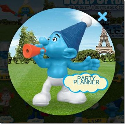 Smurf 2 X Happy Meal - Party Planner Smurf