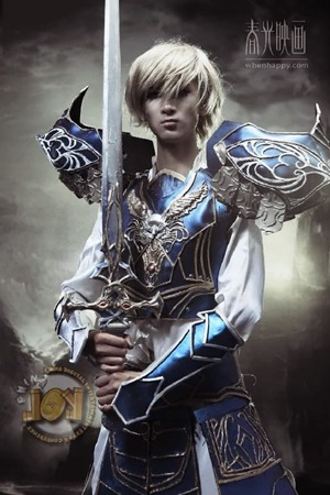 Beautiful guy cosplaying Lineage2