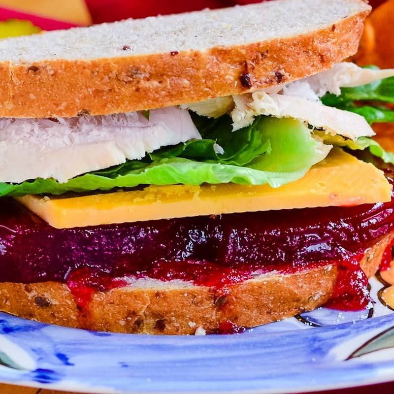 Leftover Turkey Cranberry sandwich
