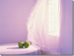 apples and curtain