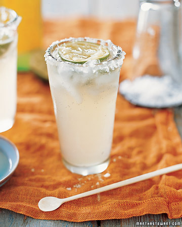 Margaritas aren't the only Cinco de Mayo drink. Paloma coolers have similar ingredients, but a splash of Mexican soda is added for punch. (marthastewart.com)