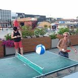 ping pong at polsen pier in Toronto, Ontario, Canada