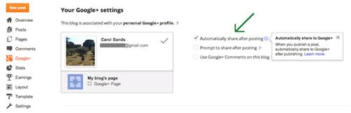 compartir entradas con google
