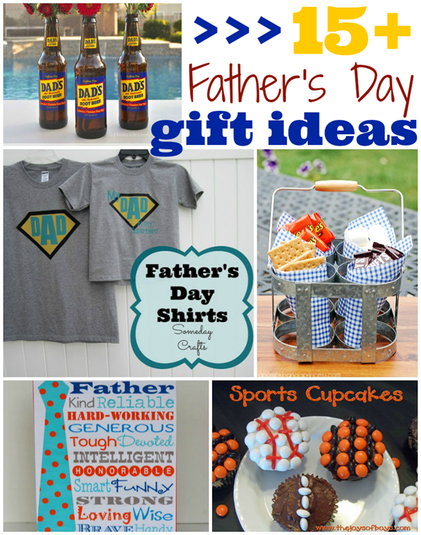 Over 15 Father's Day Gift Ideas #fathersday #features #gingersnapcrafts