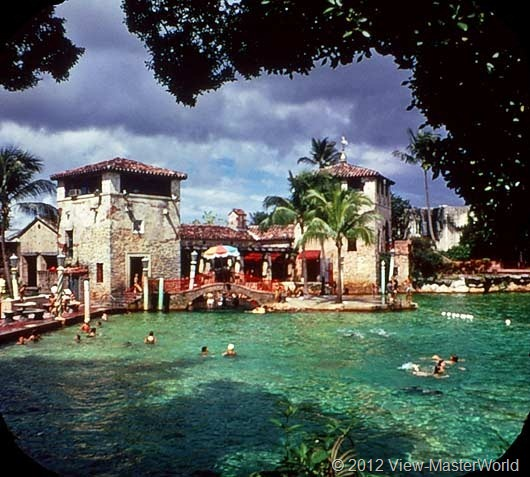 View-Master Miami and Miami Beach (A963), Scene 13: Venetian Swimming Pool in Coral Gables
