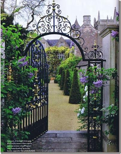 beautiful garden gate via tumblr