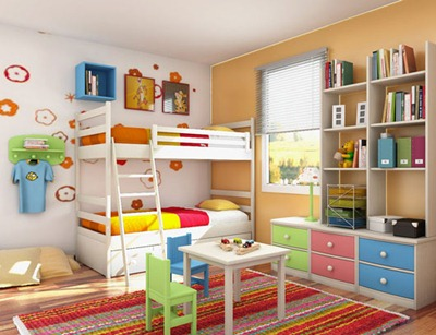 Study Room In Kids Bedroom Interior Design Ideas From Sergi (3)