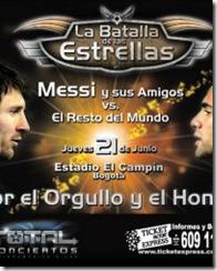 Messi y sus amigos en bogota boletas
