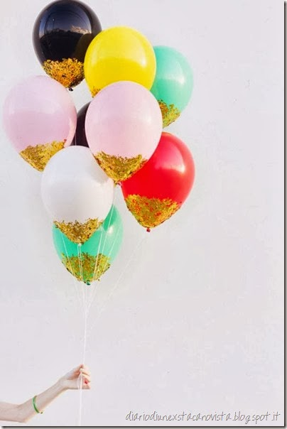 confetti dipped baloons