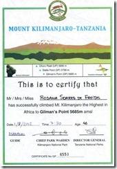 Certificado Gilmans Point