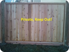 Fence Panel - Private Keep Out