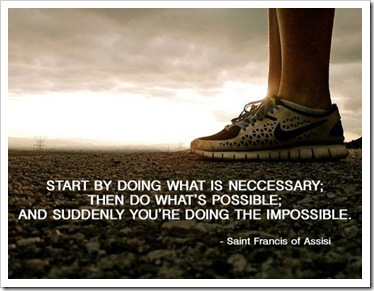 start with whats necessary