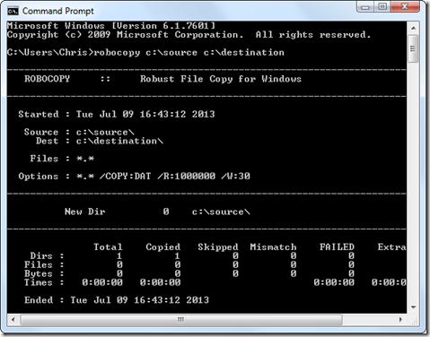 robocopy resume on error 27 images file copy windows networks